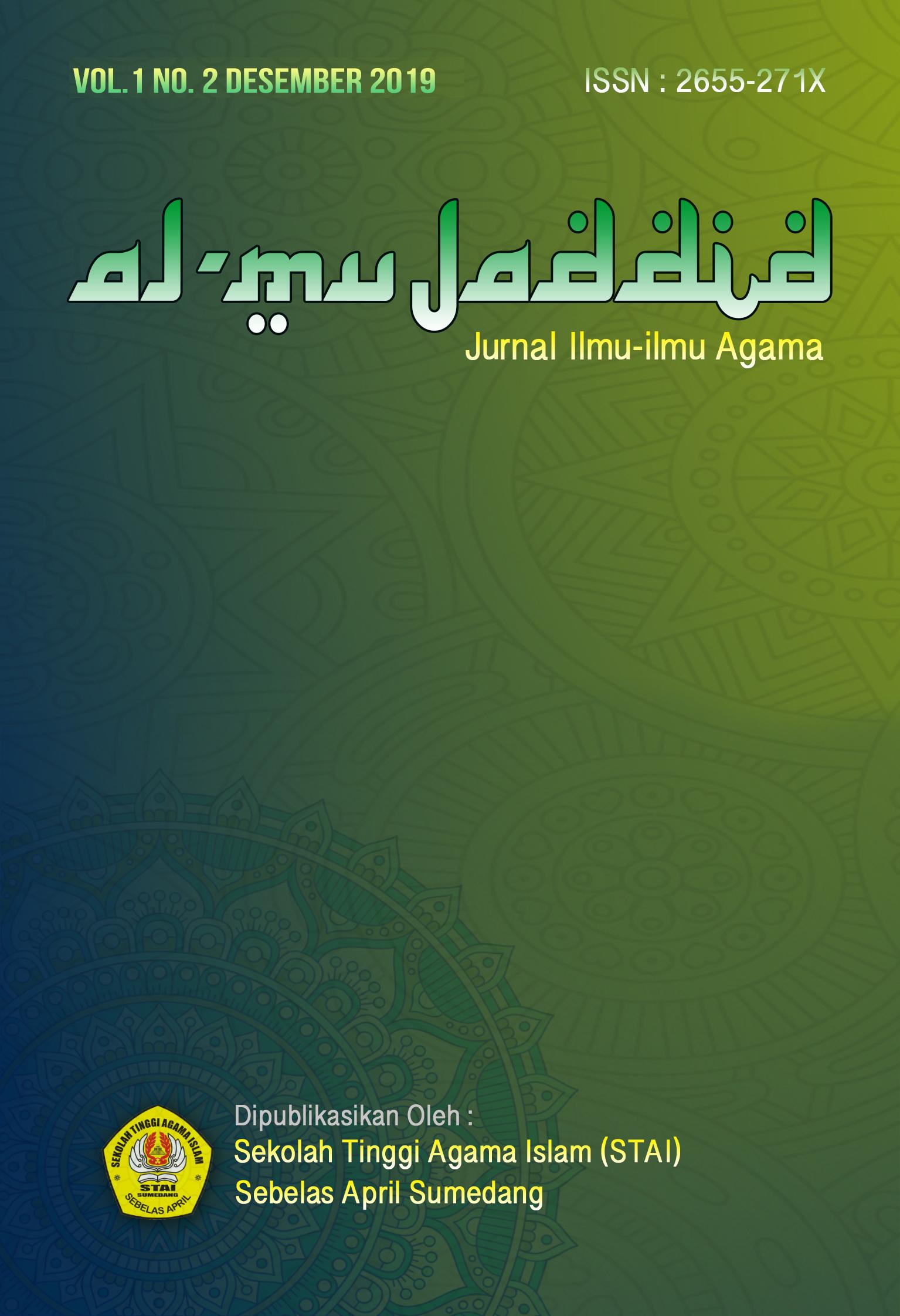 al-mujaddid jurnal ilmu-ilmu agama stai sebelasapril sumedang